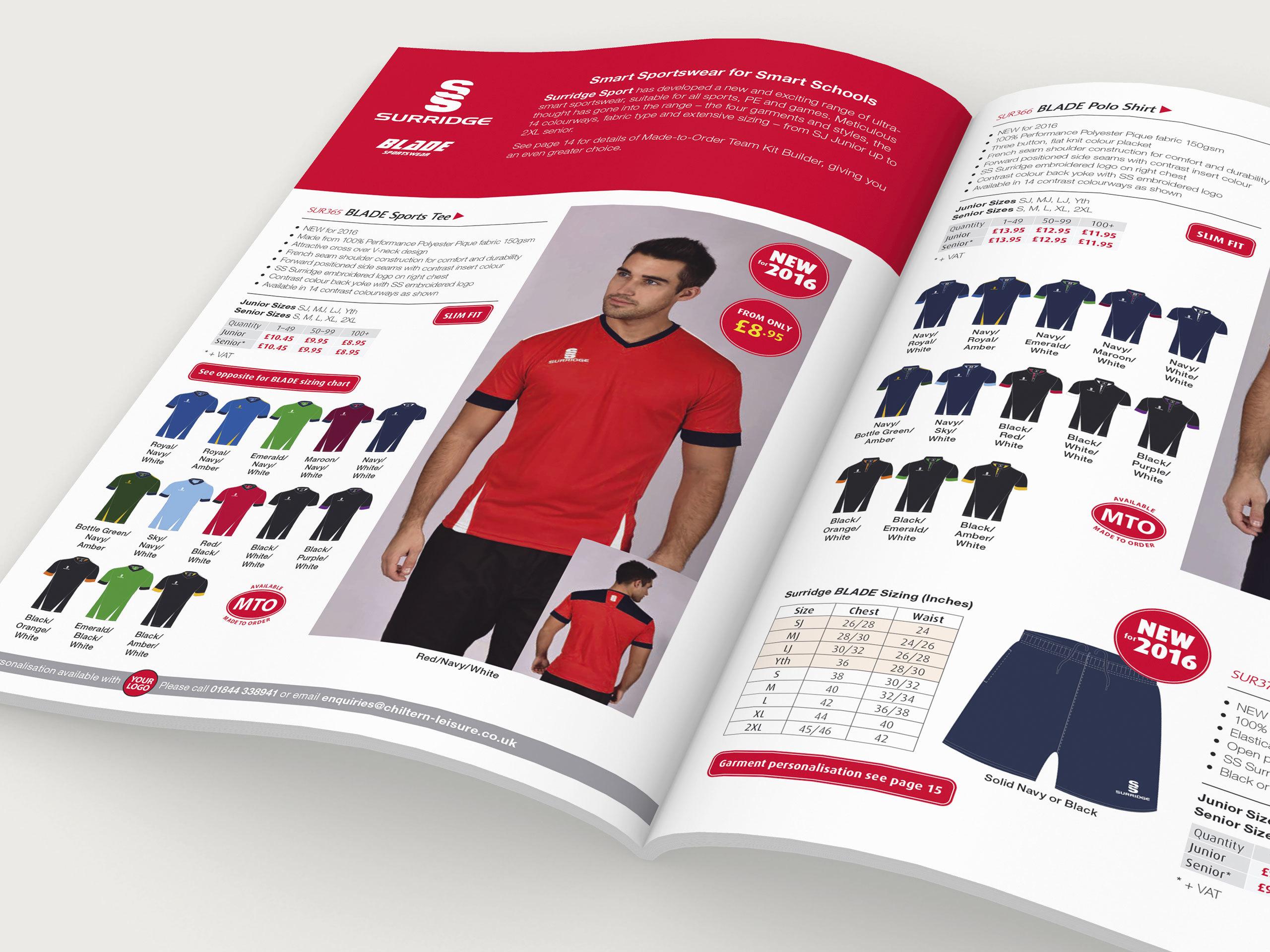 chiltern leisure multi sport catalogue design micrographix