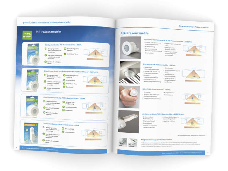 CP Electronics International brochure design and translation in German