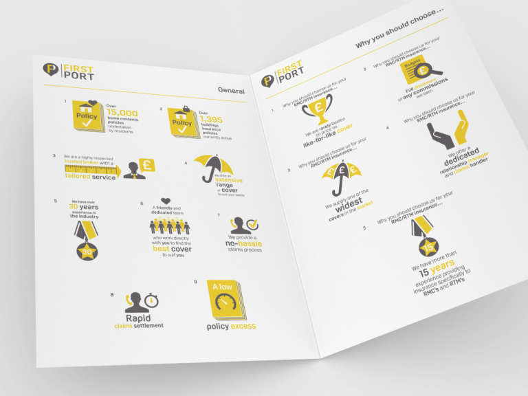Infographics and Icon design for FirstPort