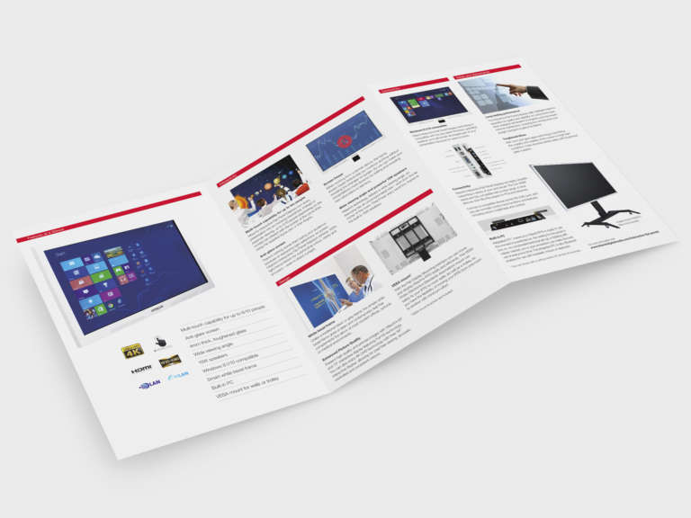 Hitachi brochure design