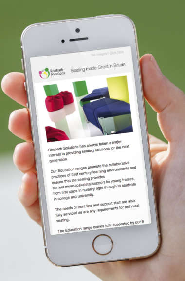 eShot design for Rhubarb Solutions
