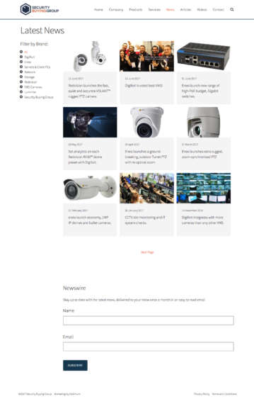 Responsive website design for Security Buying Group