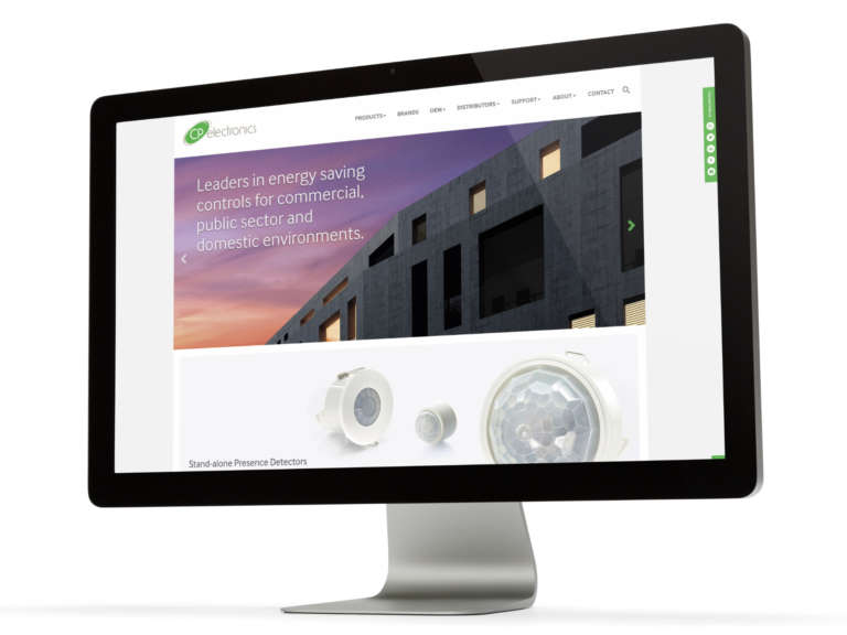 CP Electronics website design