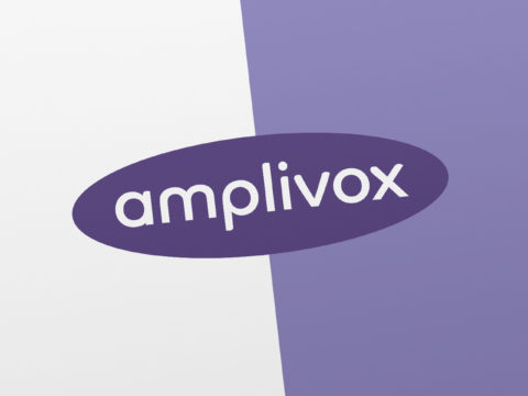 Corporate identity and logo design for Amplivox