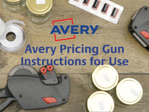 Avery price gun user guide video production