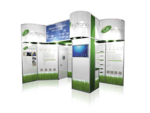 Exhibition stand design for CP Electronics