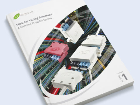 Modular Wiring Solutions brochure design for CP Electronics