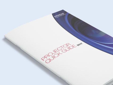 Quick guide projector catalogue design for Hitachi