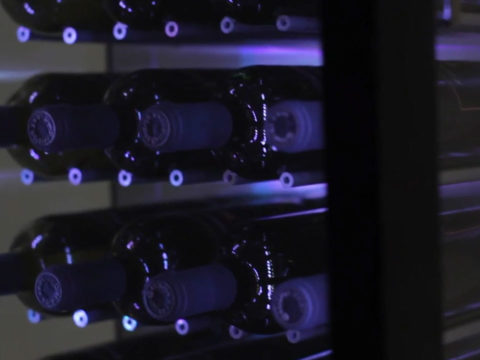 LED lit wine chiller showcase video production