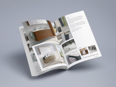 Luxury bathroom catalogue design for Cooper Callas