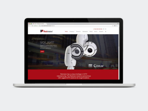 Redvision CCTV website design and development