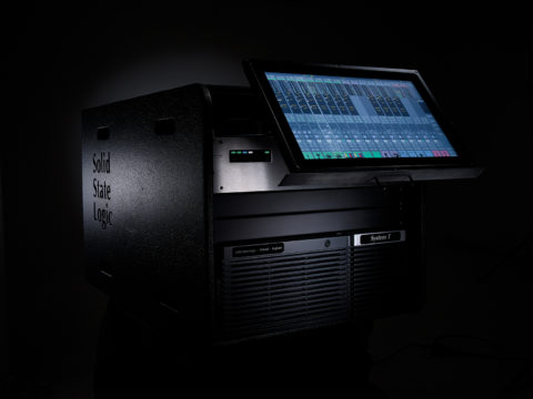 Studio product photography for Solid State Logic