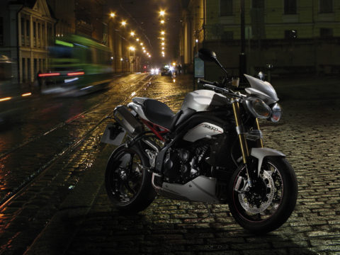 Triumph Speed 3 motorcycle composite photography
