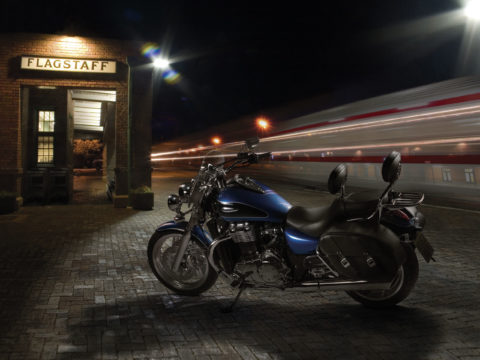 Triumph Thunderbird motorcycle composite photography