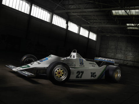 Williams FW-07 car location photography