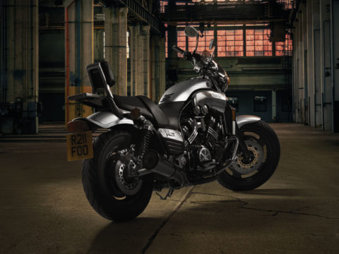 Yamaha V Max motorcycle composite photography