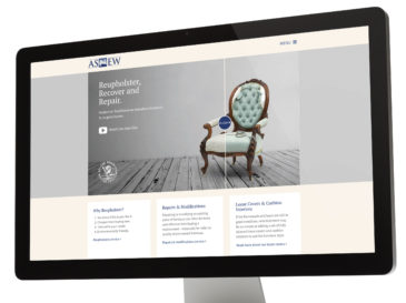 Asnew Upholstery responsive website design
