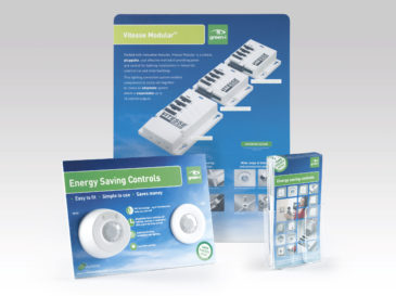 CP Electronics product packaging and POS design