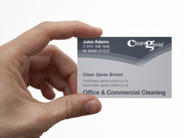 Clean Genie business card design
