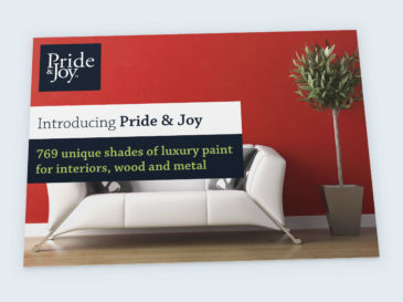 Pride & Joy postcard design