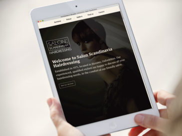 Salon Scandinavia website design