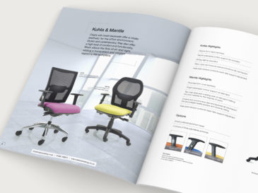Status Seating brochure design