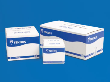 Teknos paint can packaging boxes
