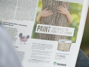 Teknos Press Advertising Design