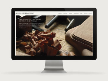 Tosca & Willoughby responsive website design