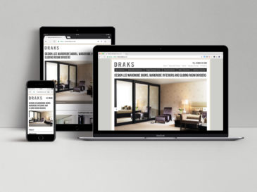 Draks website design
