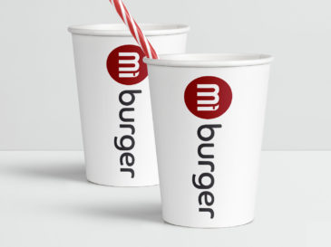Mi Burger Logo Packaging